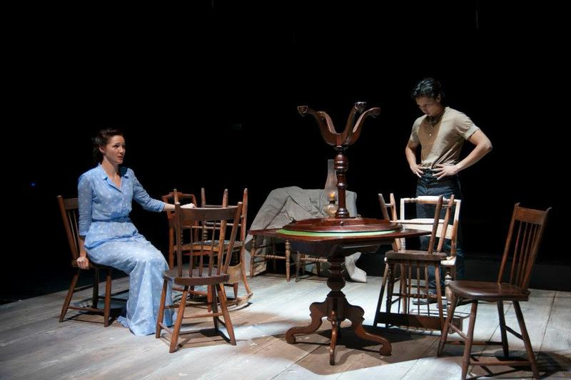 Jessica Collins and Julian Cihi in a scene from <em>A Month in the Country</em> at Williamstown.