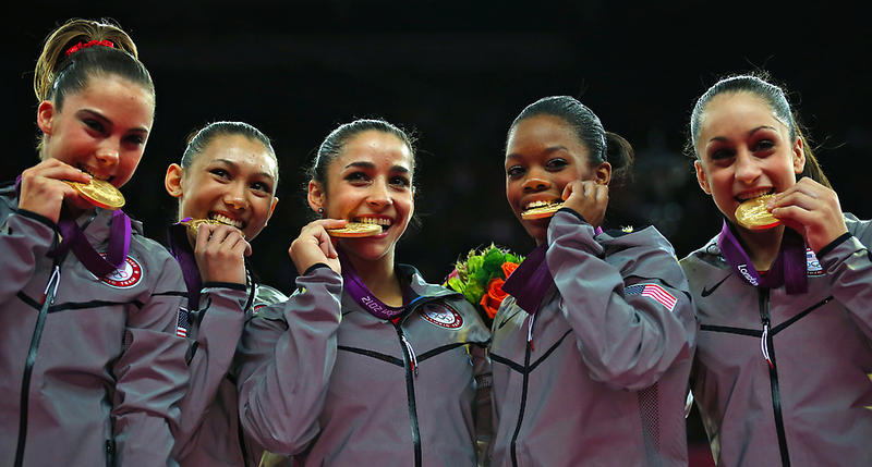 "The ""Fab Five"" win gold in women's gymnastics"