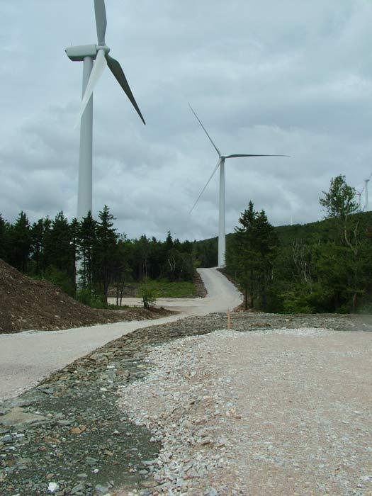 A view of the Hoosac Wind Project