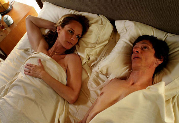 Helen Hunt and John Hawkes in <em>The Sessions</em>