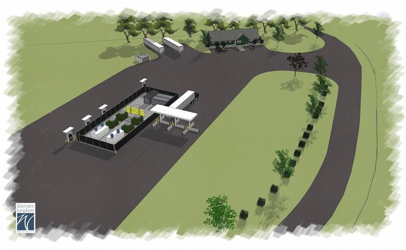 Rendering of NG Advantage Compressor Site
