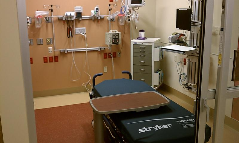 A treatment area in the emergency room at Bay State Medical Center in Springfield, MA