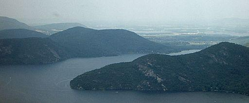 Aerial View of Anthony's Nose on Lake George