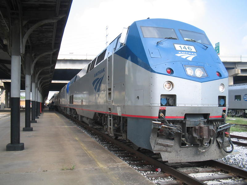 Photo of an Amtrak train.