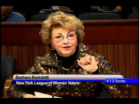 Barbara Bartoletti, legislative director of the New York State League of Women Voters