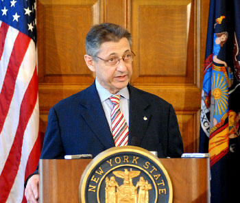 Stock photo of then NY State Assembly Speaker Sheldon Silver