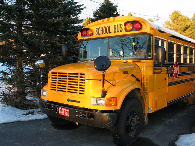 Picture of a Vermont School Bus