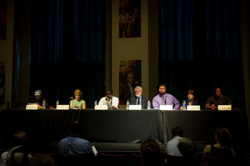 Candidates gather at the Albany Mayoral Forum on Sustainability
