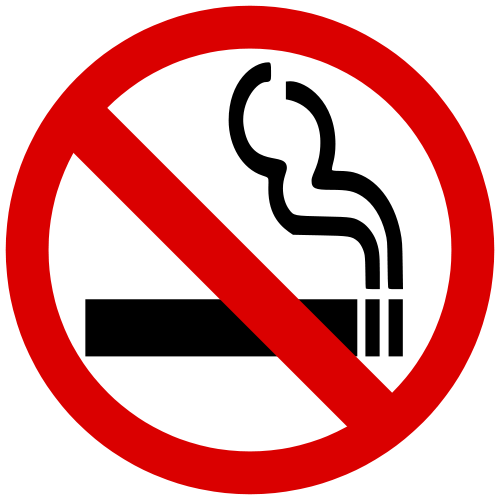 Image result for no smoking in pick up line sign