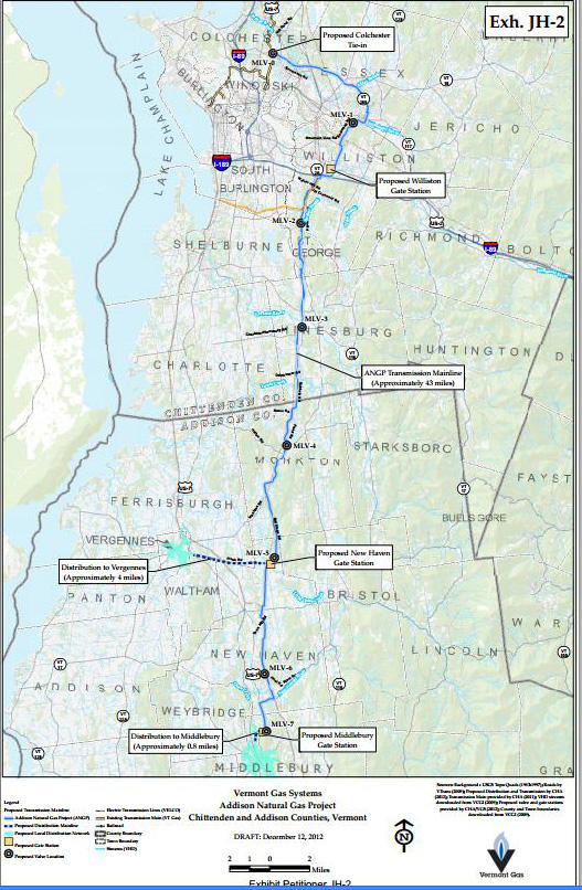 Addison Natural Gas Project pipeline project map