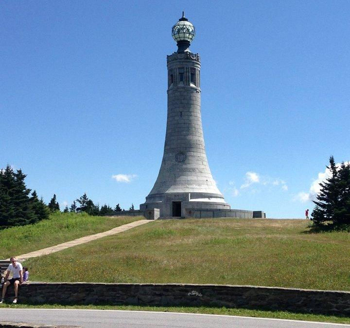 The summit of Mt. Greylock in western Massachusetts