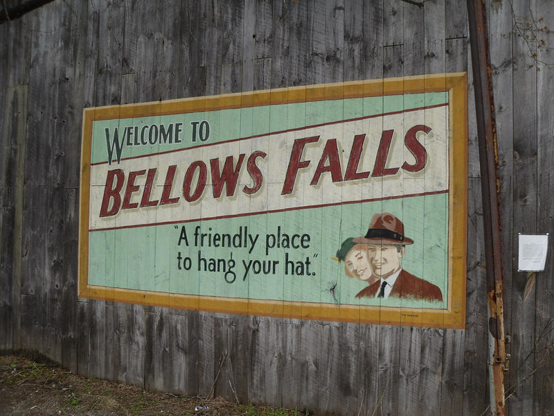 Picture of Bellows Falls sign