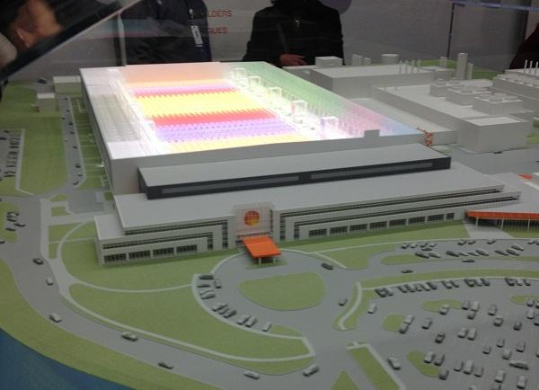 A model of GlobalFoundries Fab 8 facility in Malta