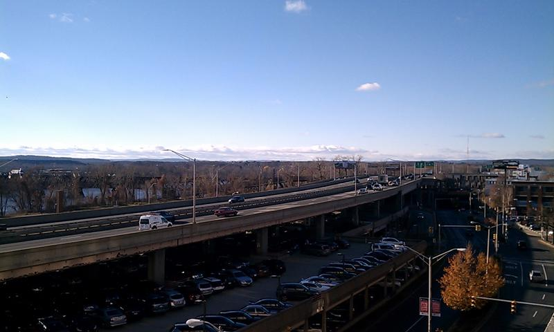 An elevated portion of highway in Springfield, Ma.