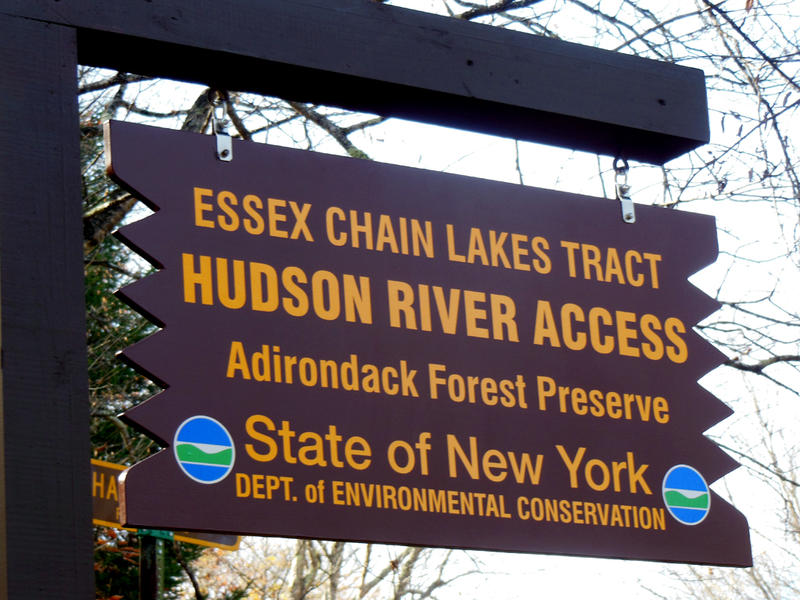 Essex Chain Lakes Tract sign