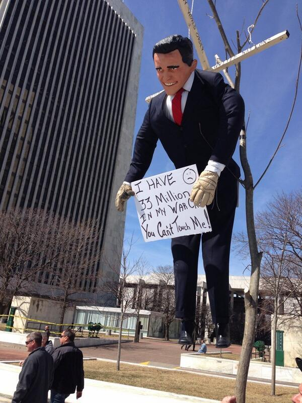 Protesters depict Gov. Cuomo at rally