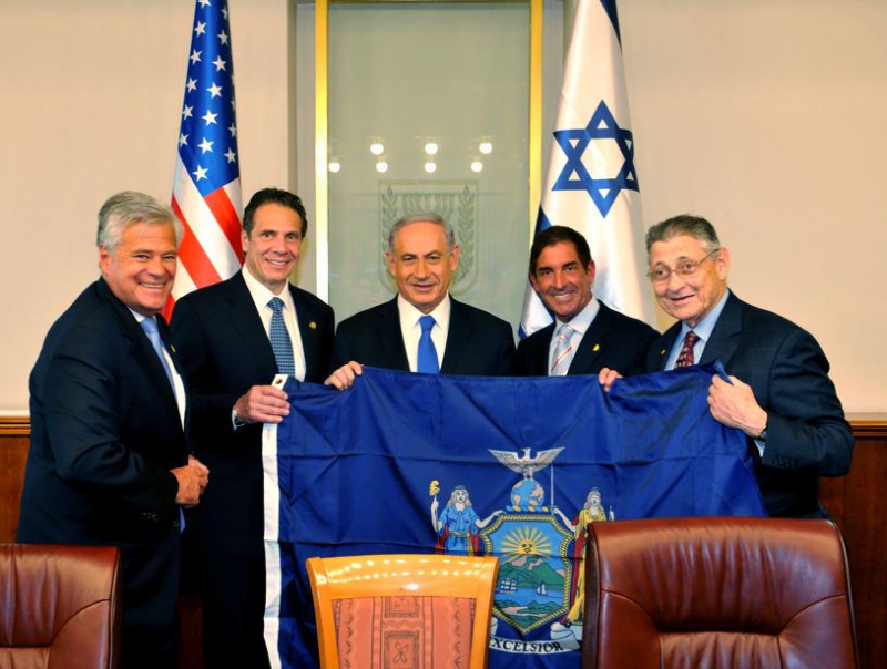 NY delegation meets with Israeli Prime Minister Benjamin Netanyahu on August 13, 2014 in Jerusalem, Israel.