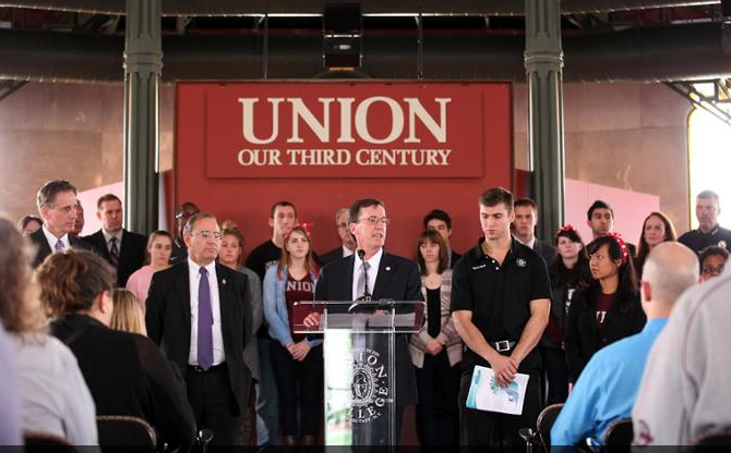 President Stephen C. Ainlay said Union College is committed to making sure that everyone understands that sexual misconduct, harassment and violence are unacceptable.