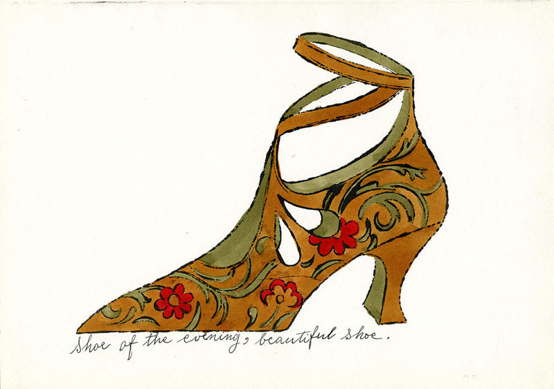 4.	Andy Warhol, Shoe of the Evening, Beautiful Shoe, ca. 1955. Courtesy of The Andy Warhol Museum, Pittsburgh.
