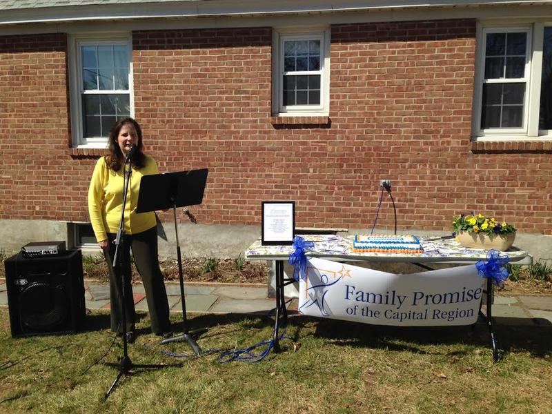 Mary Giordano is Executive Director of Family Promise of the Capital Region. She says 11 host congregations will assist in providing housing and meals to three to four families, one week at a time, four times a year.