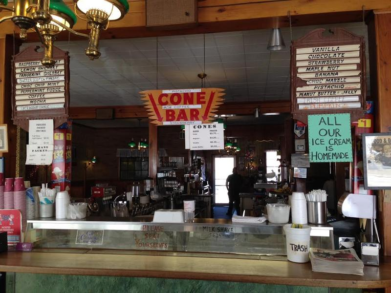 The counter at Toll Gate, Slingerlands