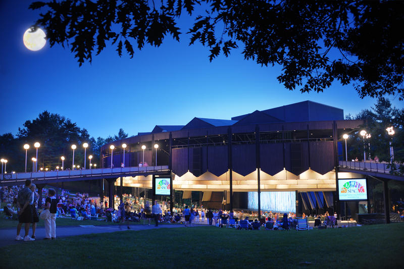 SPAC amphitheater at night