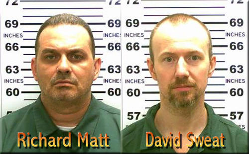 Mug shots of Richard Matt and David Sweat