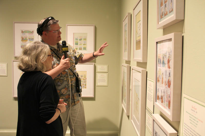 Joe Donahue and Roz Chast at The Norman Rockwell Museum