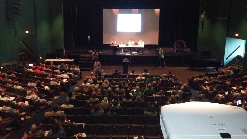 Hundreds of people filled Taconic High School in Pittsfield for a FERC scoping meeting on Kinder Morgan's Northeast Energy Direct project.
