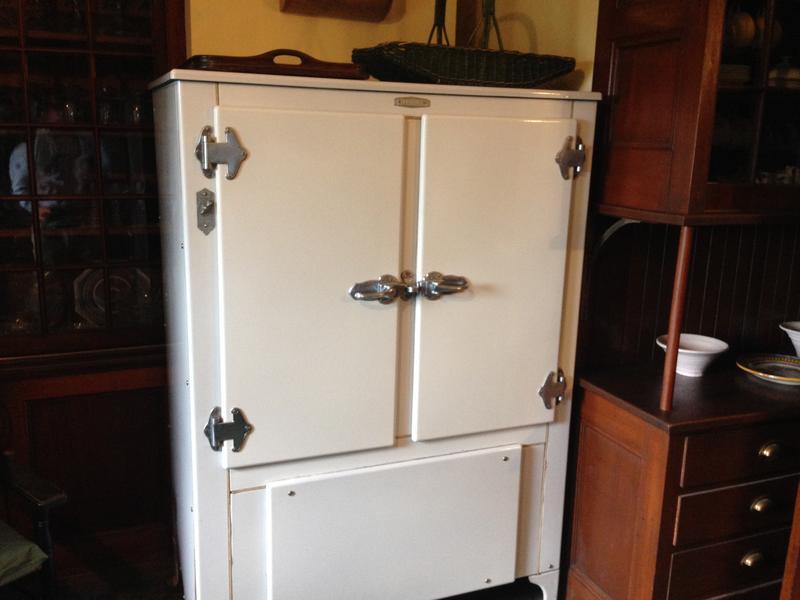 A circa-1930s Frigidaire refrigerator