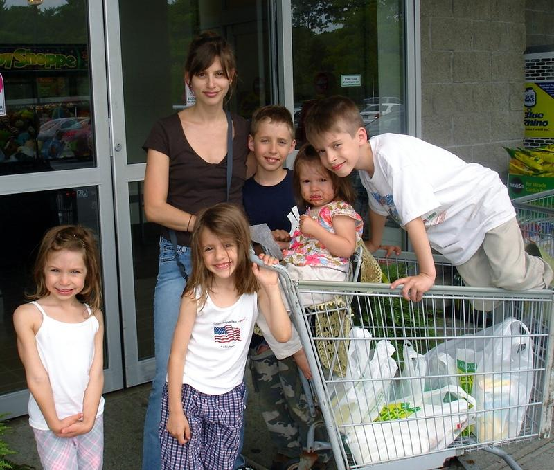Jackie Mercurio and her children.