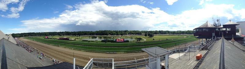 A panoramic view of Saratoga Race Course