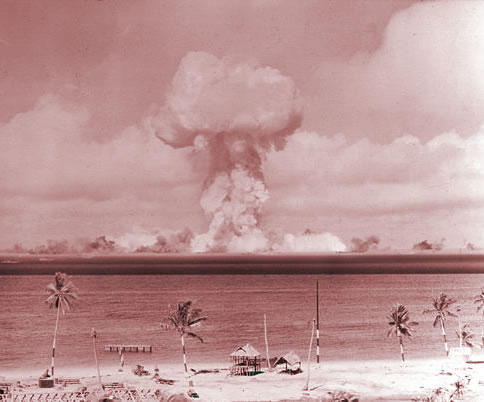 nuclear test at the Bikini atoll