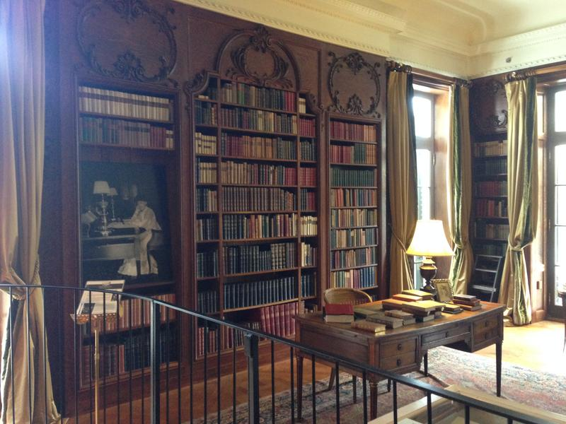 Visitors can flip through the pages of Wharton's library.