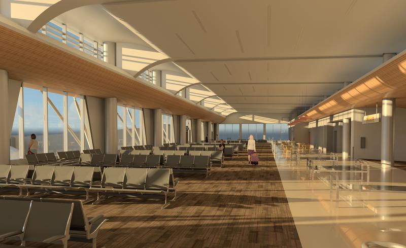 Concourse west rendering