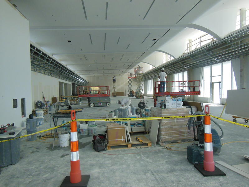 New concourse construction at Plattsburgh International Airport