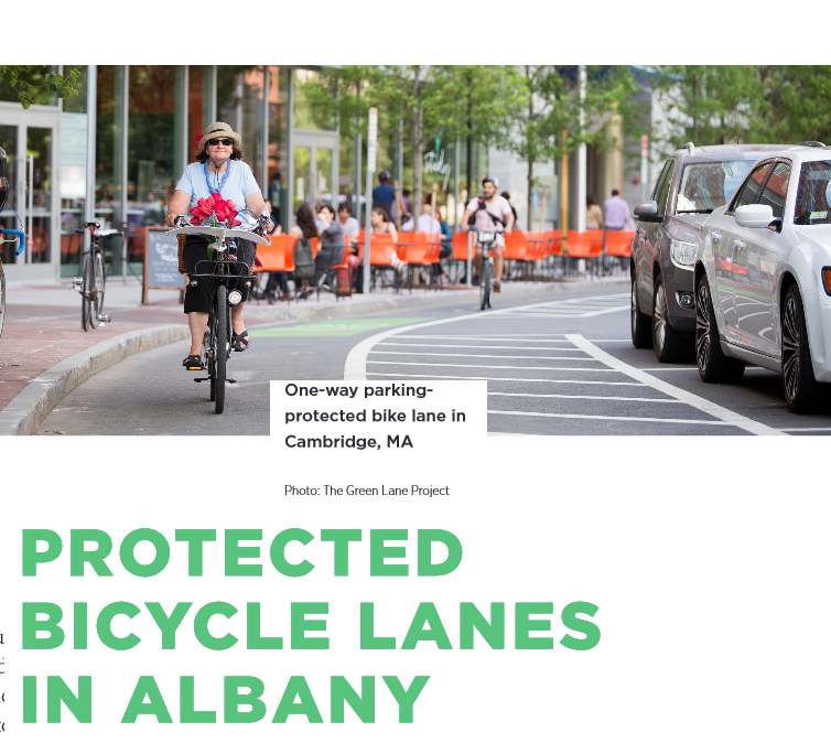 Report Recommends 'Protected Bicycle Lanes' For Albany