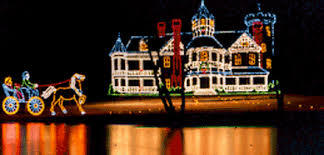 A scene from the Bright Nights at Forest Park light display