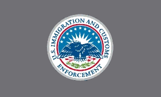 This is a picture of the flag of the U.S. Immigration and Customs Enforcement