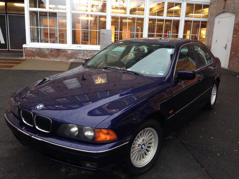 This is a picture of a BMW parked outside MASS MoCA