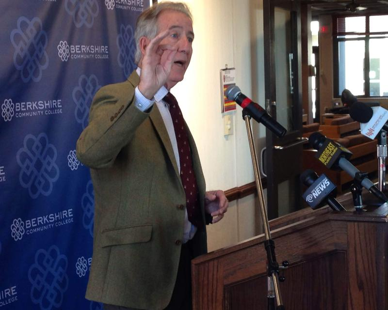 Congressman Richard Neal (D-Mass.) was on hand to celebrate the $2 million federal grant at BCC Monday.