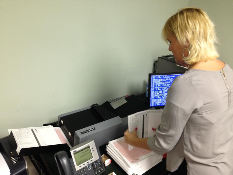 Machine counting verifies absentee ballots