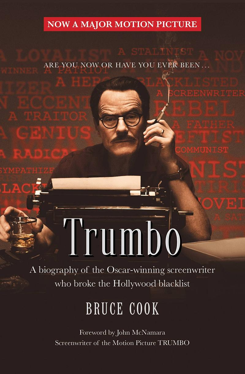 Book Cover - Trumbo by Bruce Cook, film version of book cover