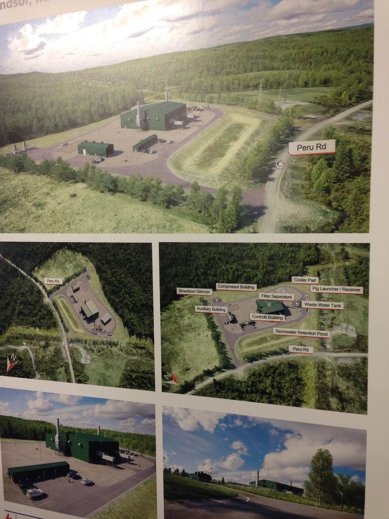 This is a picture of a rendering of the proposed Windsor compressor station.