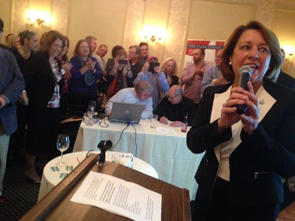 Joanne Yepsen declares victory in Saratoga