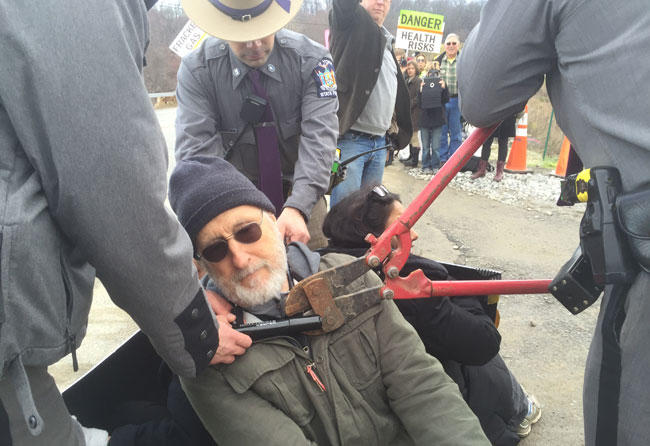 CPV protestor and actor James Cromwell