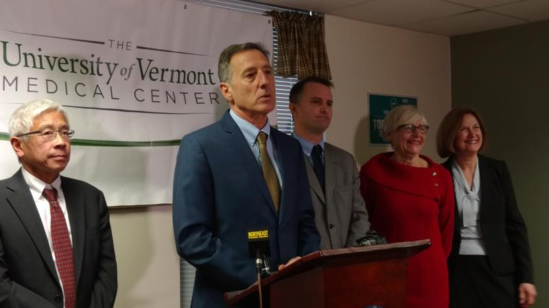 Photo of Governor Shumlin and health officials
