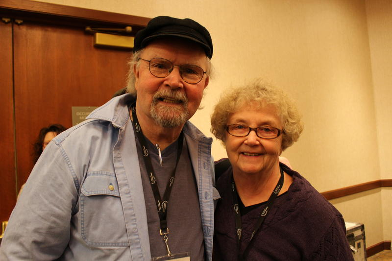 Tom Paxton and Wanda at the Folk Alliance International Conference, 2015.