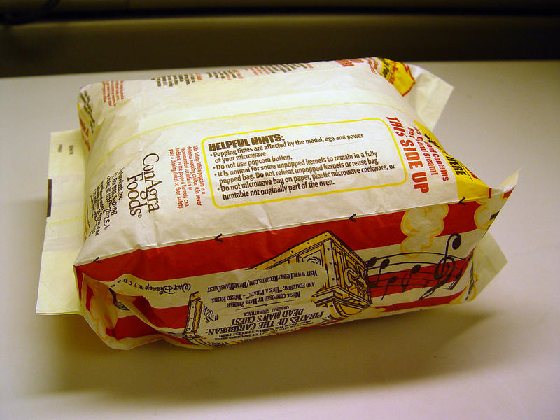 popcorn bags may contain PFOA
