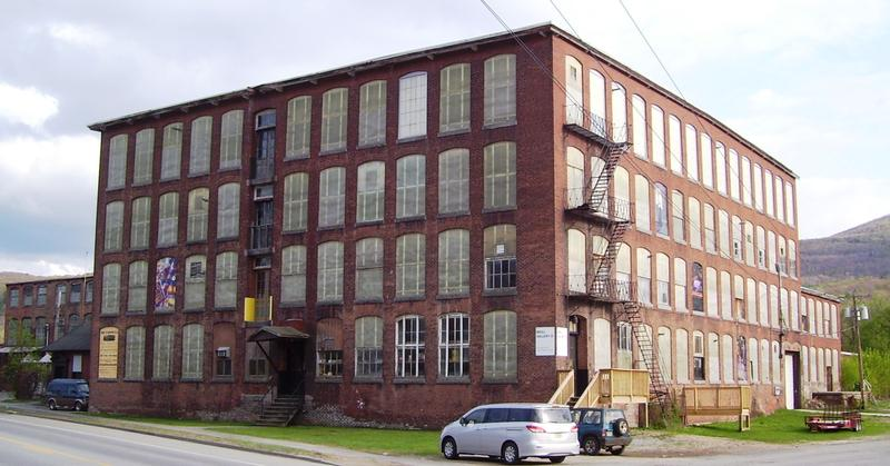 This is a picture of the former Cariddi Mill in North Adams, Massachusetts